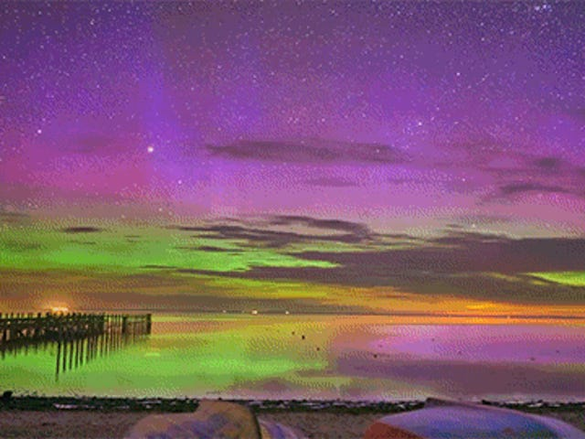 Seeing the Aurora Borealis' Reflection on Water Is So Cool