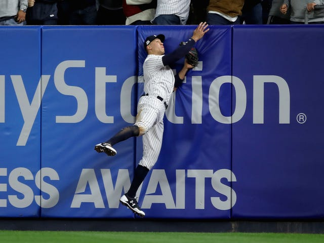 Aaron Judge Jumps And—