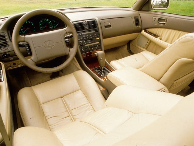 Lexus LS dash layout over the years
