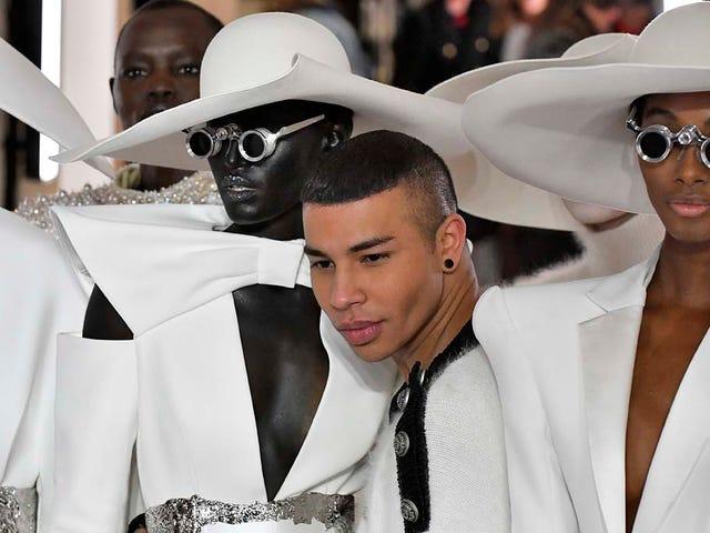 Onun ve Hersekleri: Paris'te Balmain Karşıt Koleksiyonları - ve Blackface?