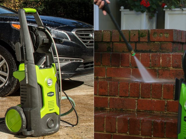 Clean Your Driveway, Porch, and More With This GreenWorks Pressure Washer Discount