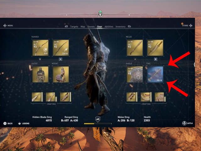 Assassin's Creed Origins Patch Changes Hideous Blue Box Into Lovely Gold Box