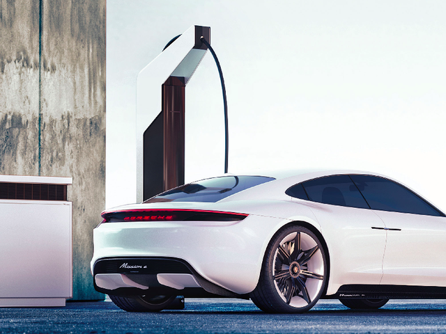 Porsche's New 'Electric Pit Stop' Breaks EV Charging Station Duties Into Modular Blocks and Skinny Poles