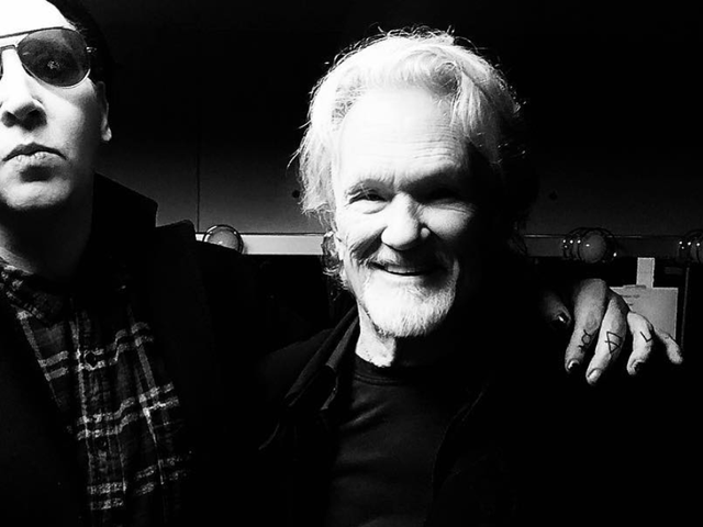 Here's Marilyn Manson and Dennis Quaid singing a Kris Kristofferson song with Kris Kristofferson