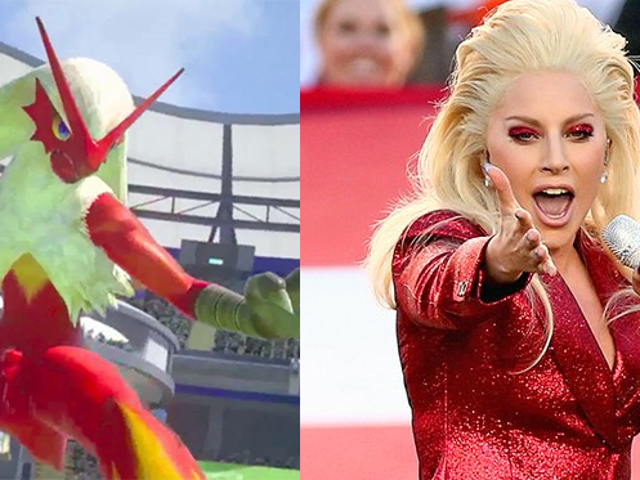 Lady Gaga Looked Like A Pokémon At The Super Bowl