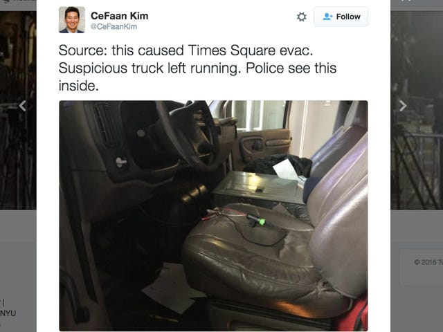 Terorista Ancest na Shut Down Times Square ay lamang ng isang Shitty Truck