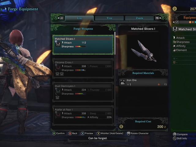 Sebilangan Gear Baru Monster Hunter World Jahat