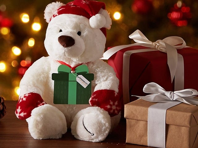 $100 Amazon Gift Cards Come Attached to Free Teddy Bears, While Supplies Last