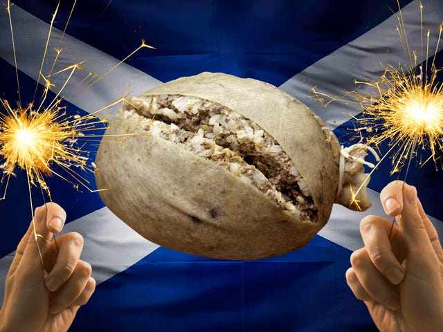 Let's raise a whisky glass to haggis, the chieftain of the sausage race