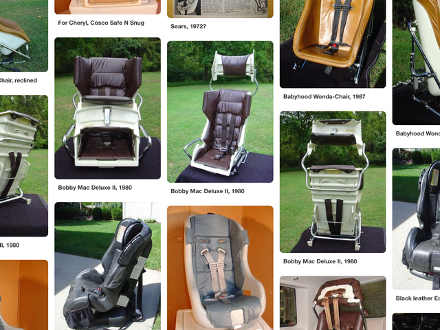 How A Car Crash Turned One Man Into The World's Foremost Collector Of Vintage Child Seats