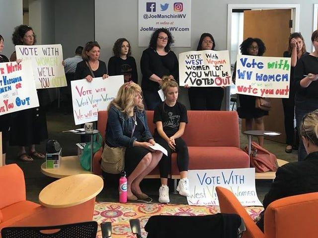 West Virginia Women Are Occupying Joe Manchin's Office, Demanding a 'No' Vote on Brett Kavanaugh