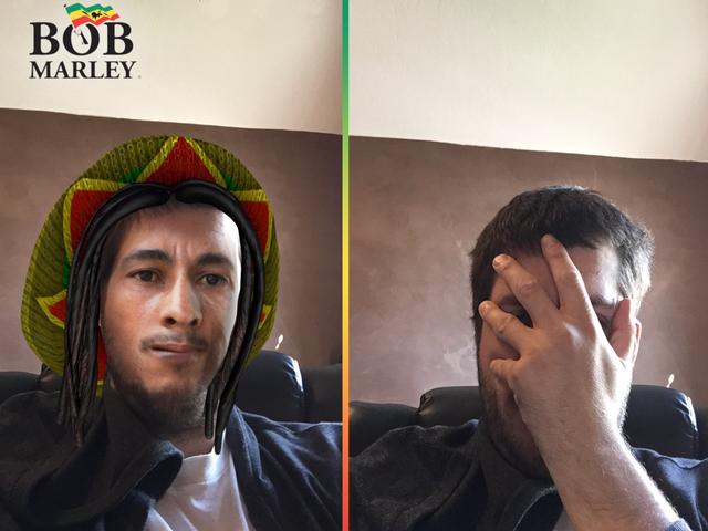 Hyväksytyt Snapchatin Bob Marley -suodattimen käyttötarkoitukset