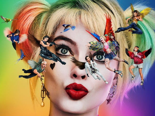The New Birds of Prey Poster Is a Dizzying Display of How Harley Quinn Sees the World
