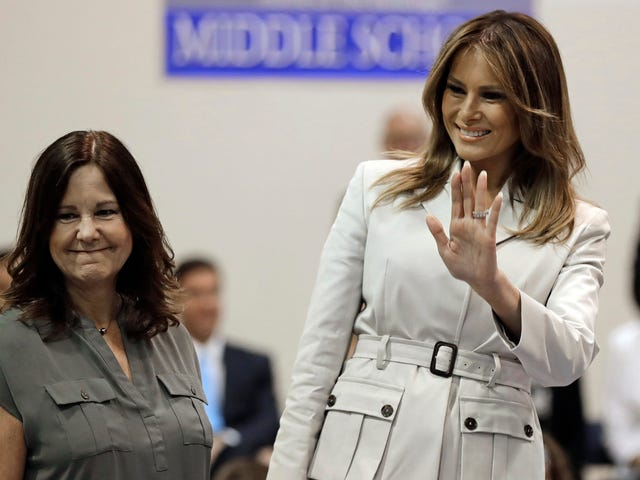 Melania Trump Tries to Convince School Children That She Likes Her Job