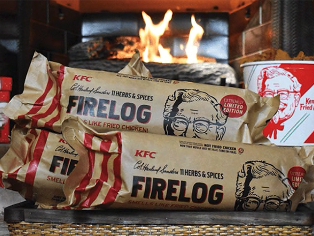 KFC ahora vende troncos de chimenea con olor a pollo frito