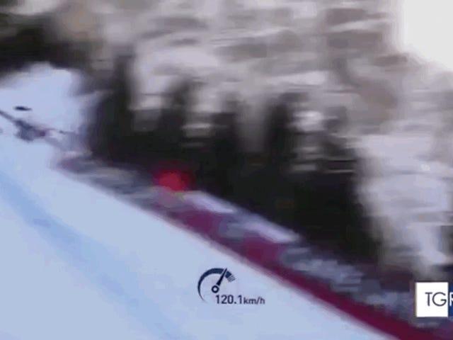 월드컵 내리막에서 공포 충돌 후 입원 한 스위스 스키어