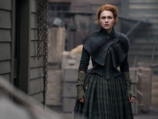 <i>Outlander</i> sammanför Brianna, Jamie och Claire för ett komplext möte