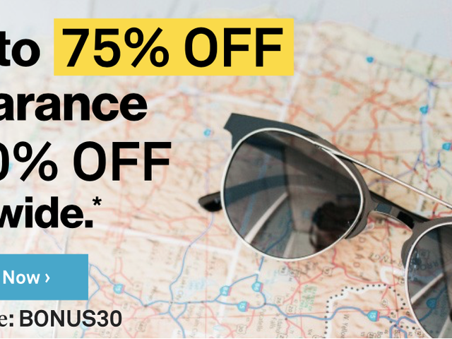 Throw Some Shade With 30% Off Sitewide at Sunglass Warehouse