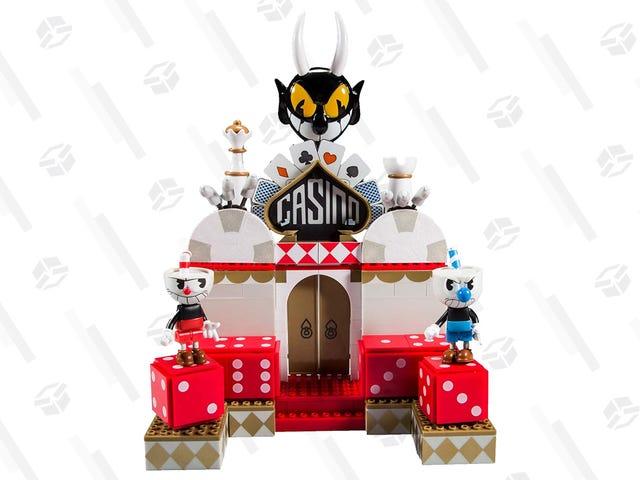 这个可爱的$ 19 Cuphead Construction Set不是乐高玩具,但是很可爱