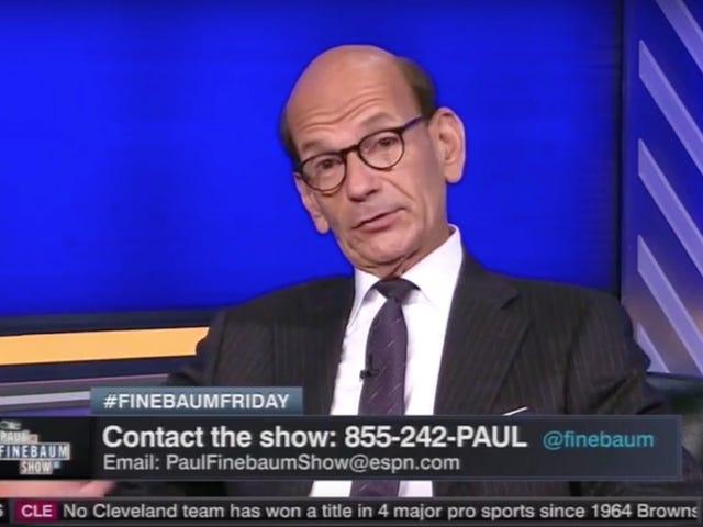 """ESPN: n Paul Finebaum: """"Tämä maa ei osoita mustia ihmisiä"""""""