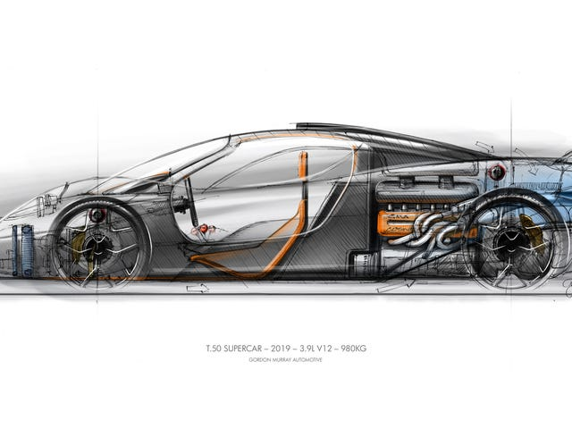 The GMA T.50 Is a Wildly Muscled Super-Light Car From the Designer of the McLaren F1