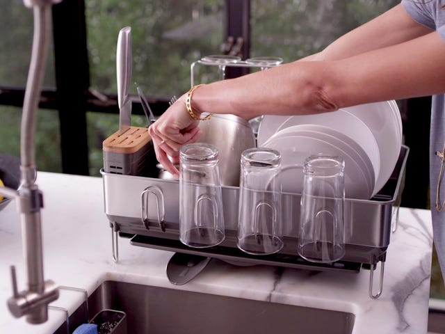 simplehuman's Dish Racks Dry Everything but the Kitchen Sink