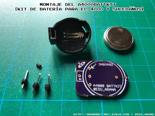 Montaje dela4000battkit (kit de batería para el 4000 y sucedáños)