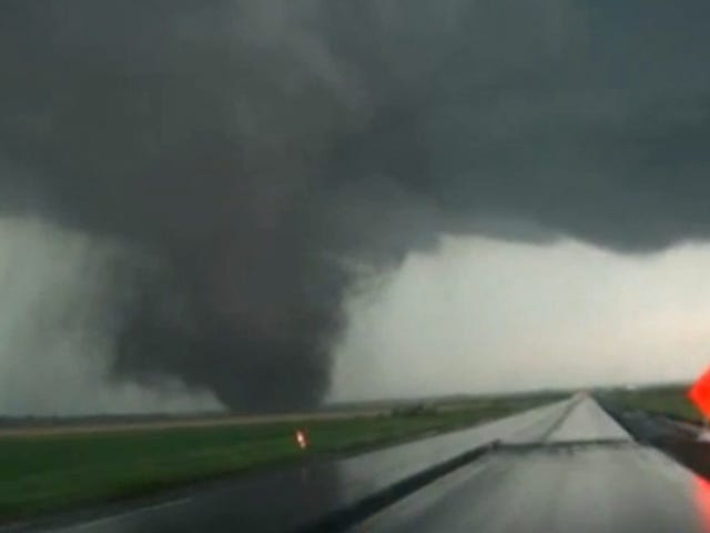 Raw video: Massive twin tornadoes touch down simultaneously in Nebraska
