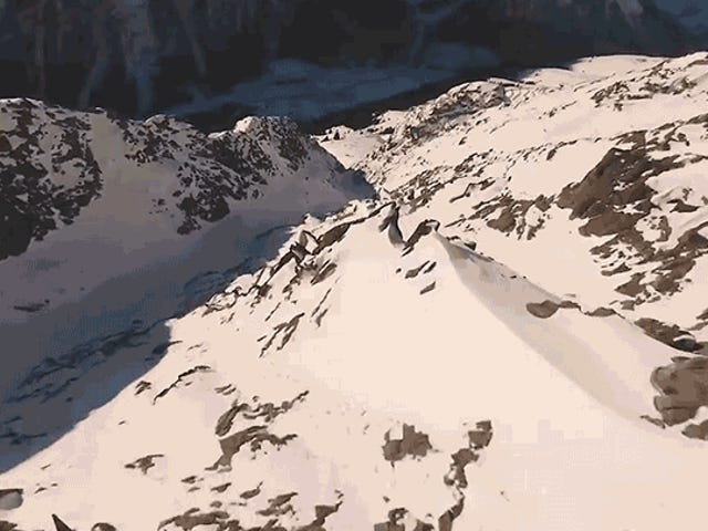 At 60 Frames Per Second, It Feels Like I'm Riding This Drone As It Races Down a Mountain