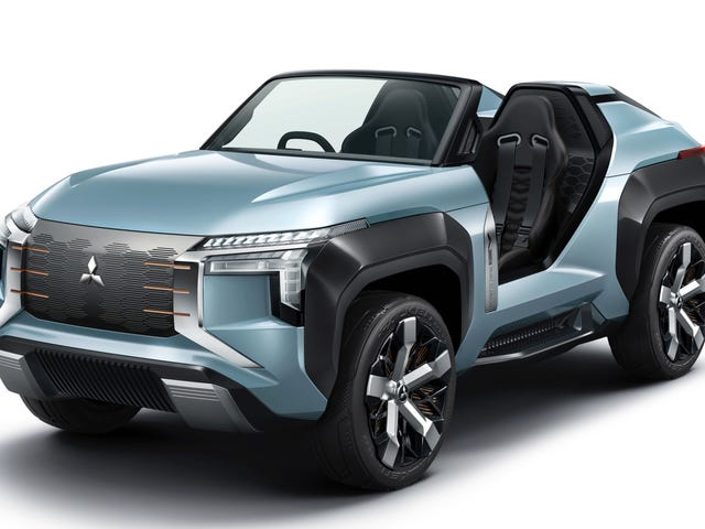 The Mitsubishi Mi-Tech Is An Open Top SUV With A Turbine Generator