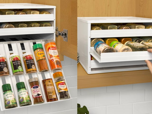 Store All Your Spices in These Space-Efficient Drawers, Just $32