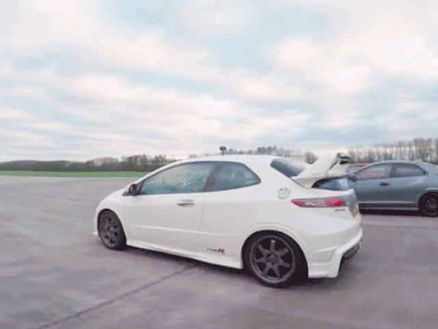 Μάθετε ποιο Honda Civic Type R είναι ο πρωταθλητής Drag Racing