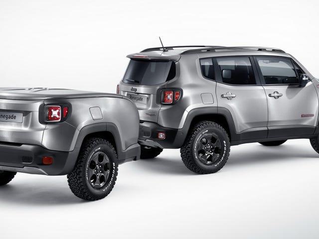 Погана дупа Brushed-Steel 2015 Jeep Renegade має відмінний міні-трейлер