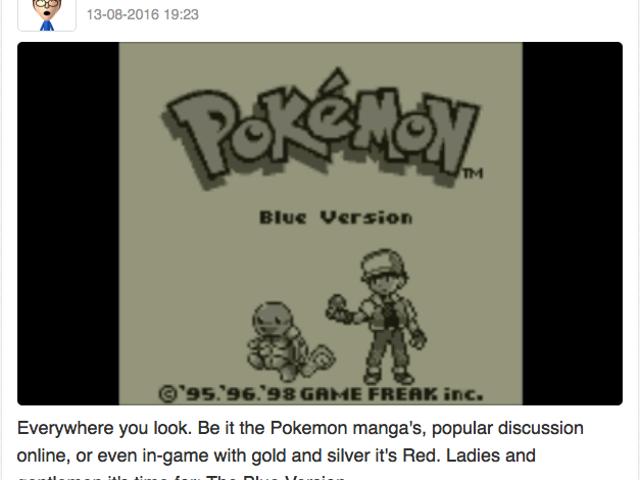 Let's play Pokemon Blue, Miiverse style part 1