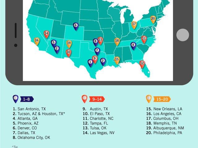 Οι καλύτερες πόλεις που επισκέπτονται σε οδικό ταξίδι του College