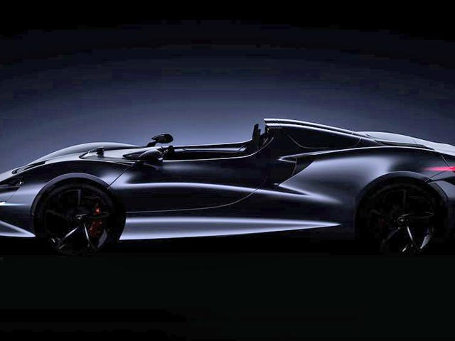 This Shadowy Two-Seat Roadster Will Be McLaren's Lightest Car Yet
