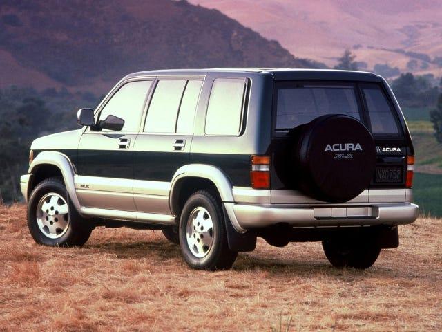 इससे पहले कि Acura सुपर लोकप्रिय MDX बनाता, उनके पास SLX नामक एक इसुजु ट्रूपर का एक रिबेड होता