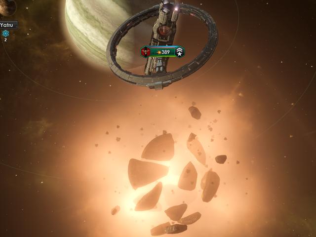 El juego de estrategia espacial es básicamente obtener cinco estrellas de la muerte diferentes