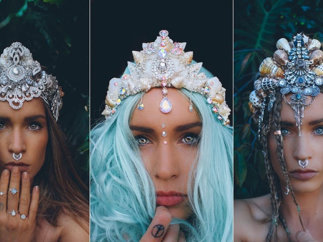 These Elaborate Seashell Crowns Are Perfect for a Mermaid Queen