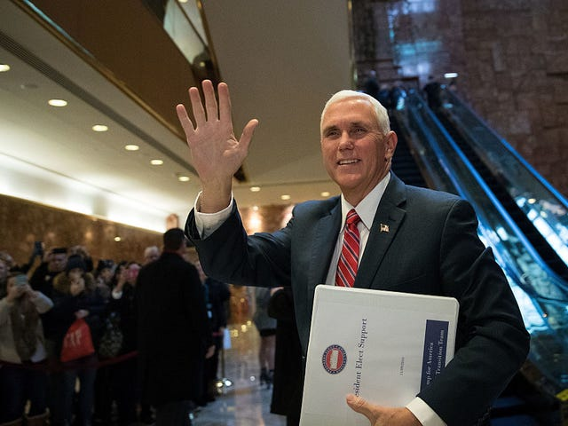 Watch Mike Pence's Matrix-Like Deflection of Obama Wiretapping Claims Made by Trump
