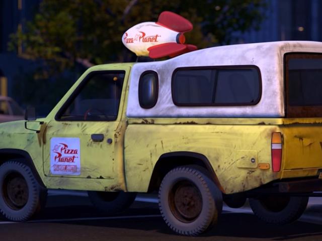 Esta camioneta de reparto sale en casi todas las películas de Pixar