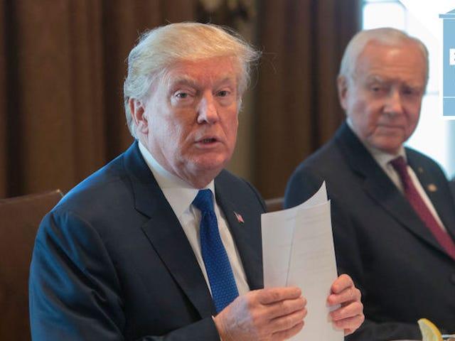 特朗普说,众议院和参议院就税收协议达成协议