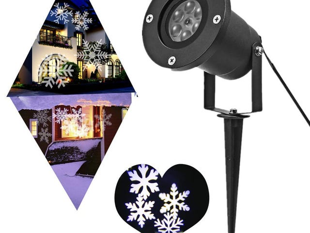 PEYING SOURCE Snowflake Lights Projector Christmas Outdoor White 12W Motion $5.5