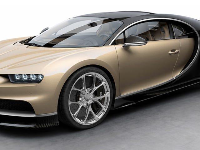 Bugatti Chiron $ 2.5 ล้านมาในสีน้ำตาลและอีก 7 งานสีมาเจสติก