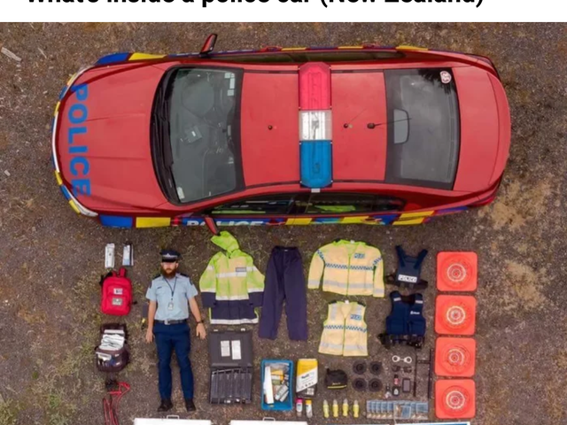 Contents of an NZ police car