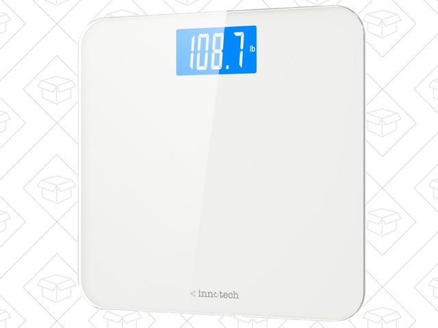 Track Your Weight On This Sleek $15 Bathroom Scale