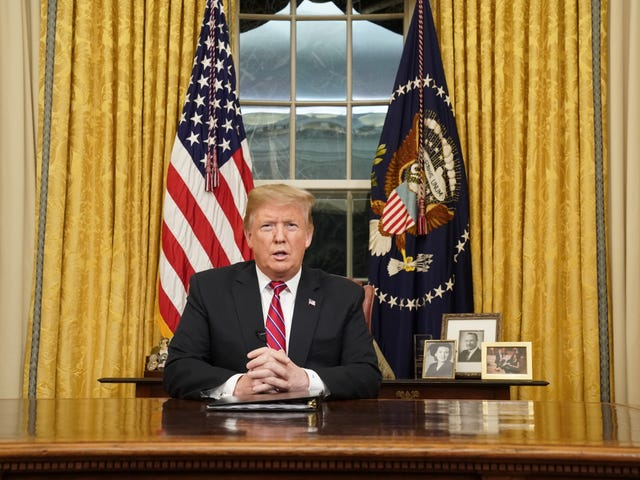 Oval Office Confessions: Trump Goes Live on National Television to Talk About His Dumb Wall