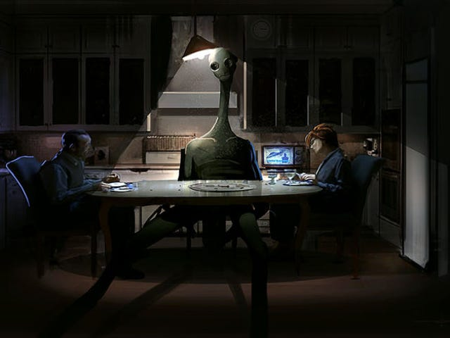 Concept Art Writing Prompt: The Alien at the Dinner Table (Redux)