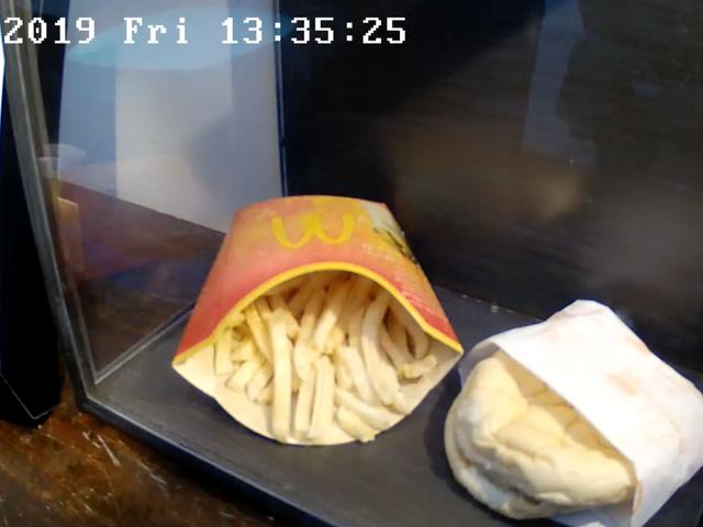 Den sidste hamburger, der serveres på en McDonalds i Island, bliver 10 år og synes umulig at ødelægge