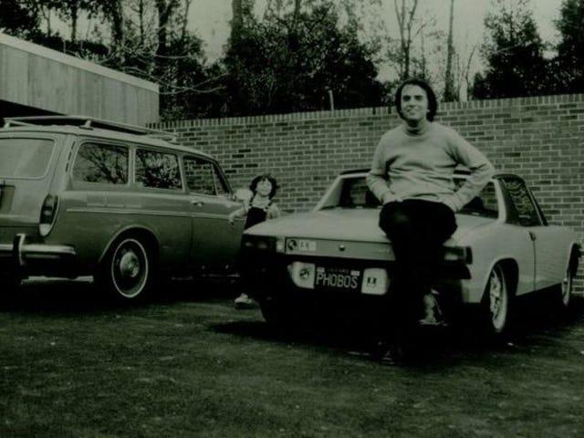 A photo of a man and his Porsche 914